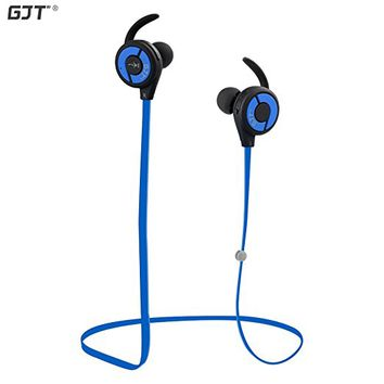 Bluetooth Headphones GJT E10 Wireless Bluetooth V4.1 Headsets Sweatproof Headphones Noise Cancelling Earphones Earbuds with Microphone&Stereo for Sports (Blue)