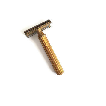 Gillette Double Edge Razor, Gillette Safety Razor, Gillette Tech, Open Comb Razor, 1930s Gillette, DE Razor, Vintage Razor