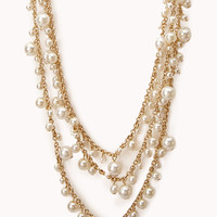 Elegant Layered Faux Pearl Necklace