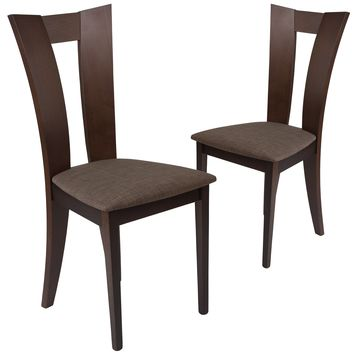 2 Pk. Talbot Wood Dining Chair with Slotted Back and Fabric Seat