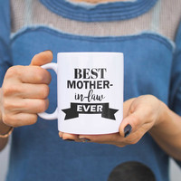 Best Mother In Law Ever Mug Mothers Day Or Christmas Gift For Mother-in-law