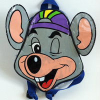 90's Chuck E. Cheese Head Clear Mini Backpack