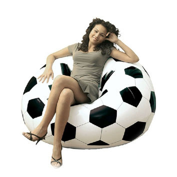 Waterproof PVC Inflatable Sofa Adult Football Self Bean Bag Chair Portable Outdoor Garden Corner Sofa Set Living Room Furniture