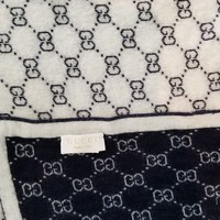 PEAPGQ6 Gucci baby GG pattern wool blanket used dark blue