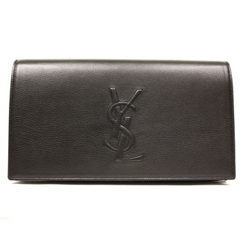 YSL Large Leather Clutch