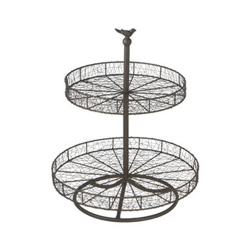 Feathered Nest Two-Tiered Table Stand