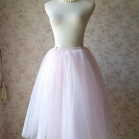 Pink Tutu Skirt. Light Pink Tutu. Soft Tulle Skirts. Women Clothing. Toddler Skirt. Knee Ballet Tutu. Gift for her. Girl's Clothing(T1847)