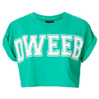 Dweeb Crop - Bralets & Cropped Tops - Jersey Tops  - Clothing