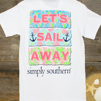Lets Sail Away Tee | Simply Southern