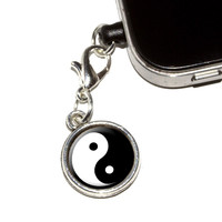 Yin and Yang - Chinese Symbol - Taoism Mobile Phone Charm