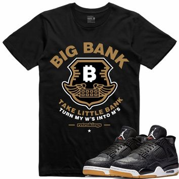 Jordan 4 Black Laser Gum Sneaker Tees Shirt - BIG BANK RK
