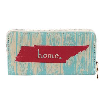 STATE OF TENNESSEE VINYL CLUTCH WALLET