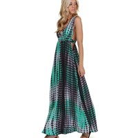 Green Good Vibes Maxi Dress