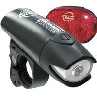 Planet Bike Beamer 1 and Blinky 3 LED Bicycle Light Set