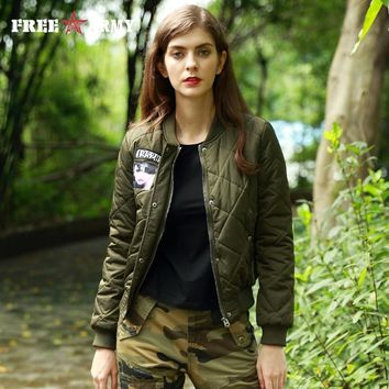 Cool FREEARMY Brand Winter Jacket Women's Coat Female Cotton Padded Bomber Jackets Lady Military Army Casual Parkas Autumn OuterwearAT_93_12