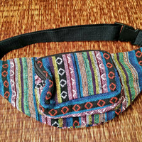 Fanny pack Festival Boho Ethnic Tribal Styles belt belly Bags Bum Pouch Travel hip sack phanny waist Ikat Hippies Gypsy Hmong Thai in Pink