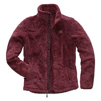 Women's Osito 2 Full Zip Jacket in Fig and Faded Rose Stripe by The North Face - FINAL SALE