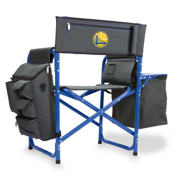 Golden State Warriors - 'Fusion' Backpack Chair & Cooler by Picnic Time (Fusion Grey/Blue)