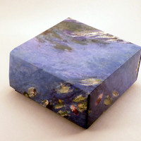 "Origami Box with Monet's ""Waterlilies"", Party Favor Box by CreativeLifeByEmily"
