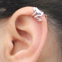 Sterling Silver Frog Earring Cuff