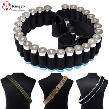Adjustable 12Gauge 27 Shells Bullet Waist Belt Bullet Holder Pockets for Outdoor Hunting