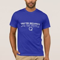 TRUTH BELONGS WITH THE PEOPLE QANON MEN'S T-SHIRT