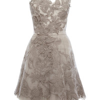 Sweet princess strapless embroidery dress / bridesmaid dress- light grey from The Girls Friend