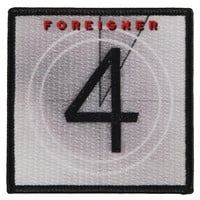 Foreigner Men's Four Embroidered Patch Black