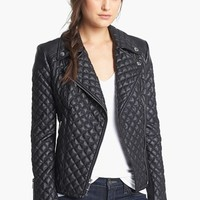 BCBGeneration Quilted Faux Leather Moto Jacket | Nordstrom