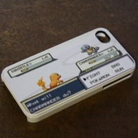 (197wi5) Pokemon Battle Apple iPhone 5 White Case Gameboy Charmander Squirtle