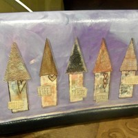 Cozy Row Houses - upcycled vintage Talbot's purse handbag accessory - Handmade Crafts by AutumnSensation