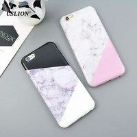 USLION Luxury IMD Marble Phone Case For iPhone 7 5 5s SE 6 6s PlusSplice Soft TPU Cover Back Cases Capa For iPhone 7Plus