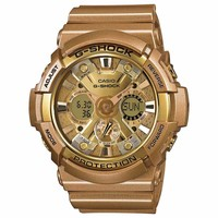 Casio GA200GD-9A Men's G-Shock Ana-Digi Dial Yellow Gold Resin Strap World Time Dive Watch
