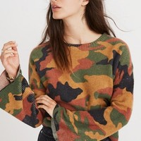 Cottontail Camo Wide-Sleeve Sweater