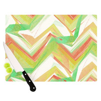 "Alison Coxon ""Summer Party Chevron"" Cutting Board"