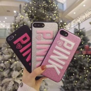 Victoria's Secret PINK Embroidery Soft Case Cover For iPhone X 8 7 6 6S Plus