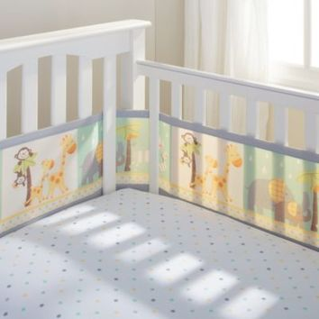 BreathableBaby® Mix & Match Breathable Mesh Crib Liner in 2 By 2 Safari