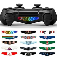 1Pcs AOXO Custom Cool Colorskin LED Sticker Decal Light Bar Stickers Protection Skin For Playstation 4 PS4