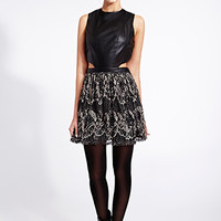 Bombshell Faux Leather Dress