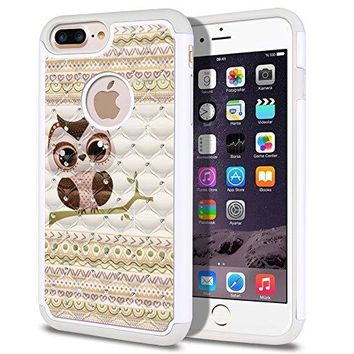"FINCIBO iPhone 7/ 8 Plus (2016-17) Case - 5.5""- Aztec Baby Owl"