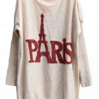 L 073009 bb Rabbit fur long knitted sweater Tower