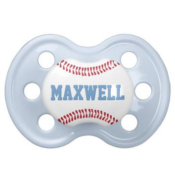 Custom Baby Pacifier | Baseball Design Baby Boy BooginHead Pacifier