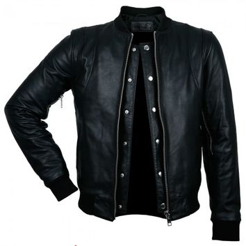 Leather Bomber Jacket- Slim Fit - BALR.