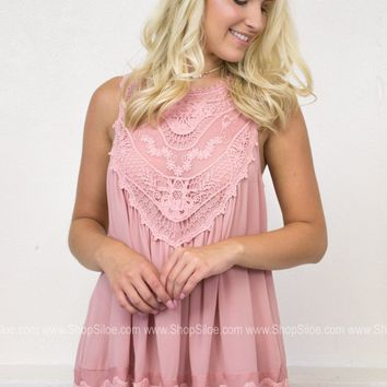 Antique Lace Blush Top