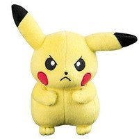 """Official Tomy Pokemon Angry Pikachu 8"""" Plush Thunderbolt US Seller USA Authentic"""