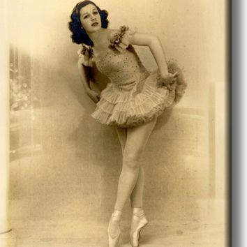 Vintage Ballerina Dancer Picture on Acrylic , Wall Art Décor, Ready to Hang