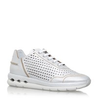 Salvatore Ferragamo Gil Perforated Leather Trainer | Harrods