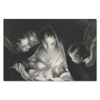 Nativity Birth of Jesus Christ Angels Virgin Mary Tissue Paper