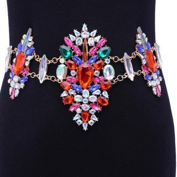 New Sexy Crystal Multi-color Waist Chain