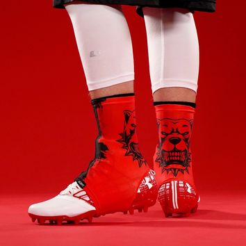 Pitbull Red Spats / Cleat Covers